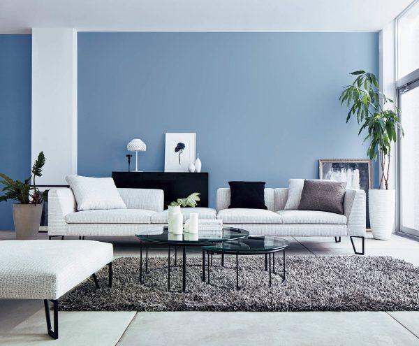 màu nội thất phong cách màu xanh