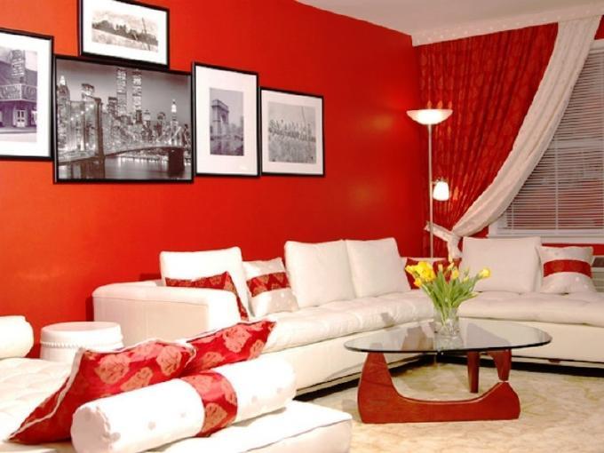 nội thất màu đỏ
